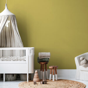 dormitorio infantil pintura a la tiza amarillo tostado