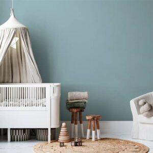 dormitorio infantil pintura a la tiza cielo de verano