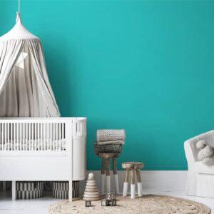 dormitorio infantil pintura a la tiza velvet turquesa vivo