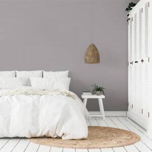 dormitorio pintura a la tiza velvet gris malva
