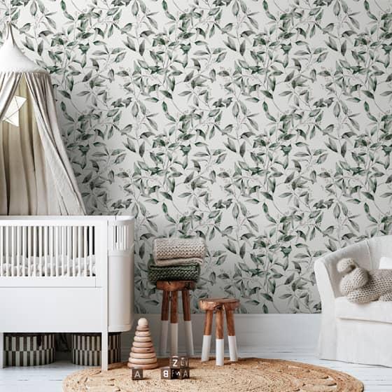 crea decora recicla papel pintado dormitorio fresh herbs