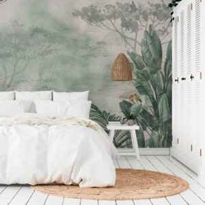 crea decora recicla papel pintado dormitorio mural jaipur